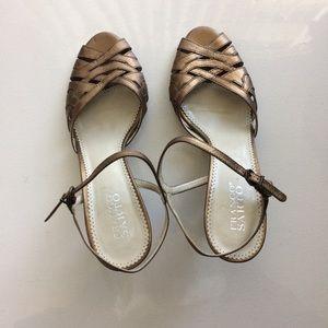 Franco Sarto Debito Bronze Sandals Size 10